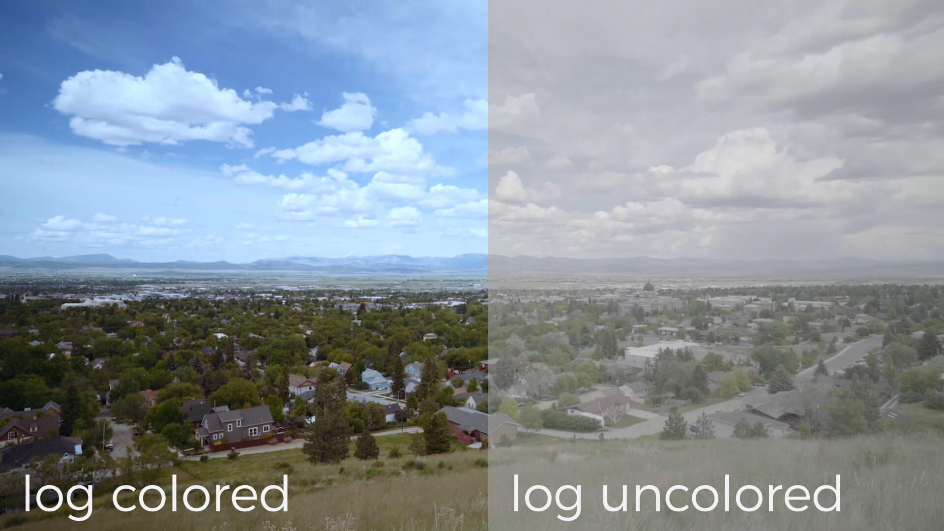 create cinematic footage with log